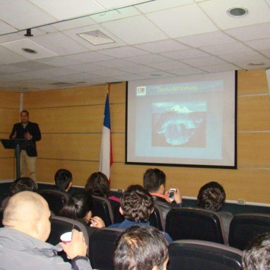 Seminario sobre Prevención de Riesgos captó la atención de estudiantes y docentes de esta área