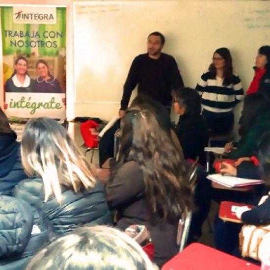 Fundación Integra dictó charla a estudiantes de las carreras de Párvulos del Instituto Profesional Los Leones