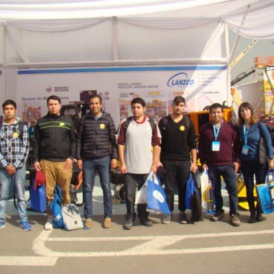 Estudiantes de carreras de Minería visitaron la Expomin 2016