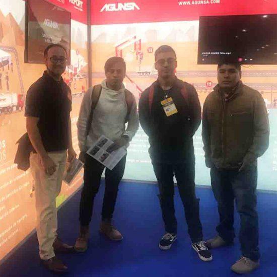 Estudiantes de la Escuela Tecnológica visitaron EXPOMIN 2018