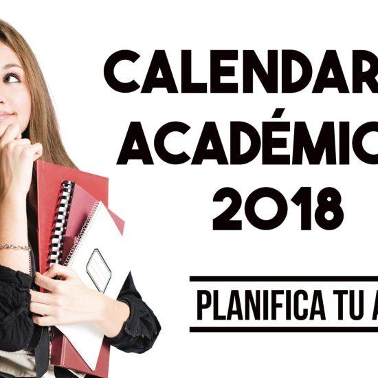 Calendarios Académicos Primer y Segundo Semestre 2018