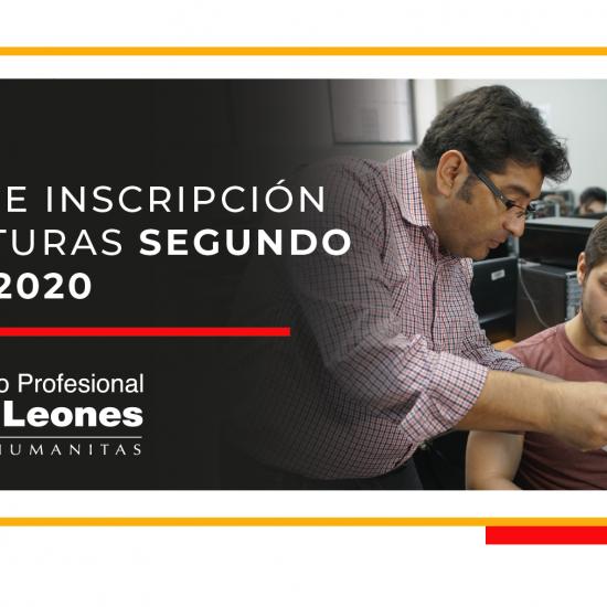 INSCRIPCIÓN ASIGNATURAS SEGUNDO SEMESTRE 2020