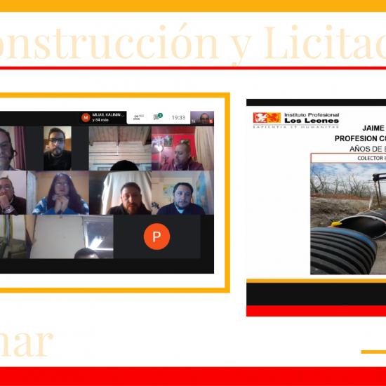 """Carreras de Construcción participan del exitoso webinar """"Construcción y Licitaciones"""""""